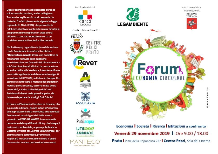 Forum Economia Circolare programma 1